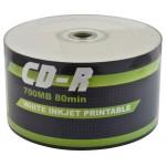 Baseline CD-R 80 Mins 700MB 1-52X Speed Inkjet Printable Blank CD - 50 pack