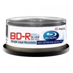 Baseline BD-R 25GB 1-4X Speed Inkjet Printable Blank Blu Ray - 10 pack